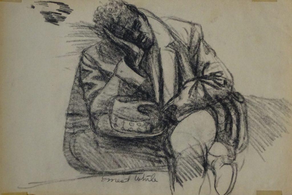 Tired man on New York City subway