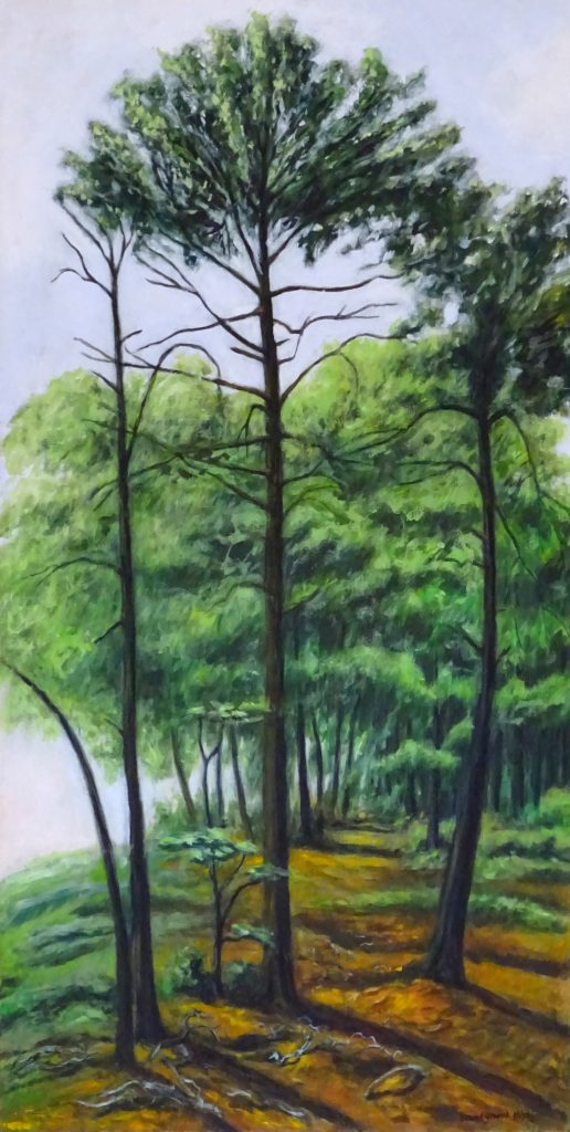 painting of green forest in vermont