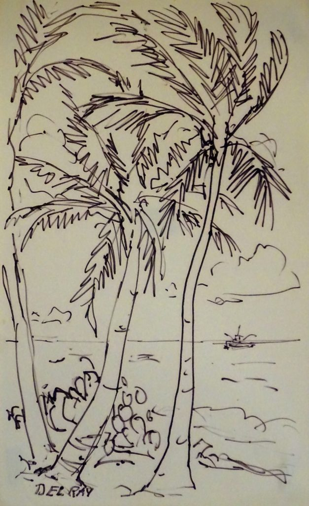 Quick sketch of palm trees