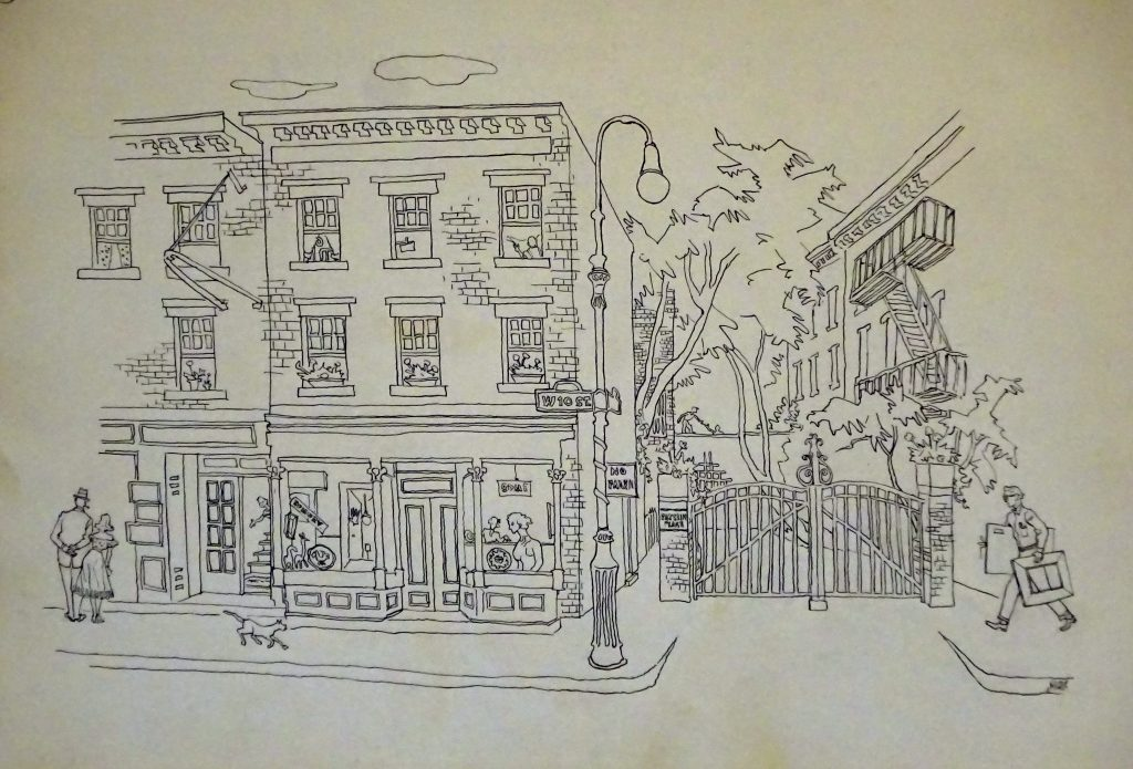 Drawing of West 10 Street, NYC