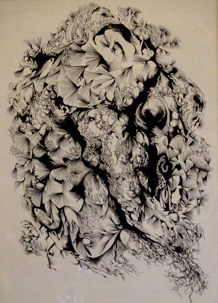 Herbacecous Fantasy of plants an birds